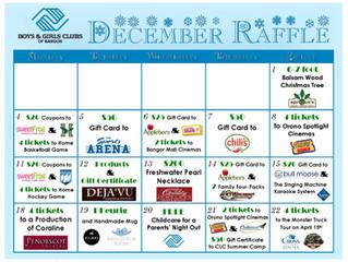First Annual December Raffle Calendar
