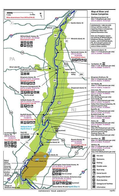 River Camping Map