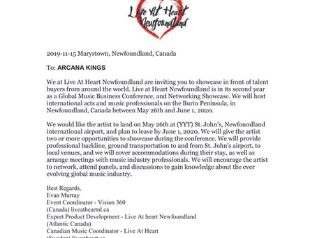 Arcana Kings and Live at Heart Newfoundland