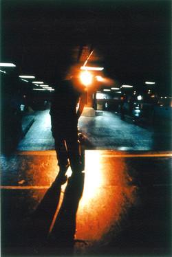 Neon Skate Boarder