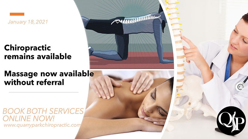 Chiropractic and Massage available onlin