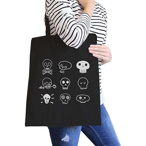 Skulls Black Canvas Bags