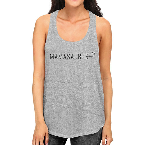Mamasaurus Womens Grey Unique Design Graphic Tanks Gift for Moms