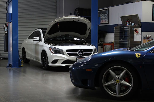 Salerno Motorsports | Mercedes-Benz & Ferrari in for service