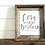 Thumbnail: Love Without Borders Rustic Barnwood Framed Art