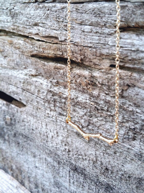 Little Gold Twig Necklace
