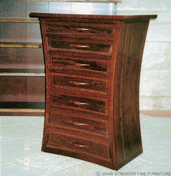 Curved Cabinet for silver cutlery