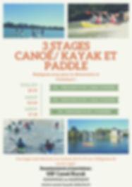 Stage Canoe Kayak Paddle Ete 2020