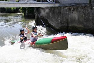 Canoe biplace filles - Course de La Flèche (Sarhe)