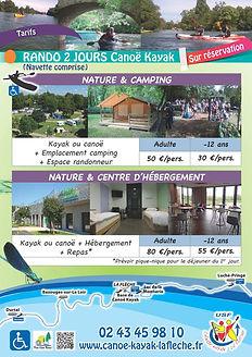 Plaquette rando canoë/kayak 2 jours