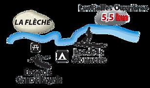 Carte du Loir canoë/kayak La Flèche