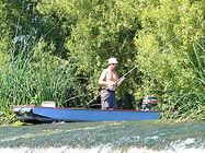 Pêcheur en barque - Barrage les Pins