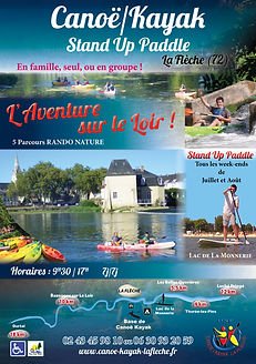 Plaquette canoë/kayak/stand up paddle La Flèche