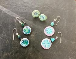 ceramic stud earrings