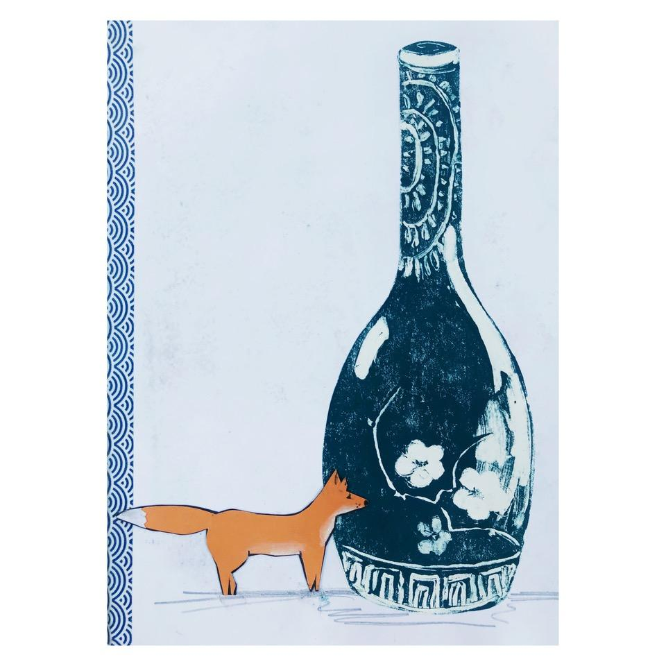 fox and bottle