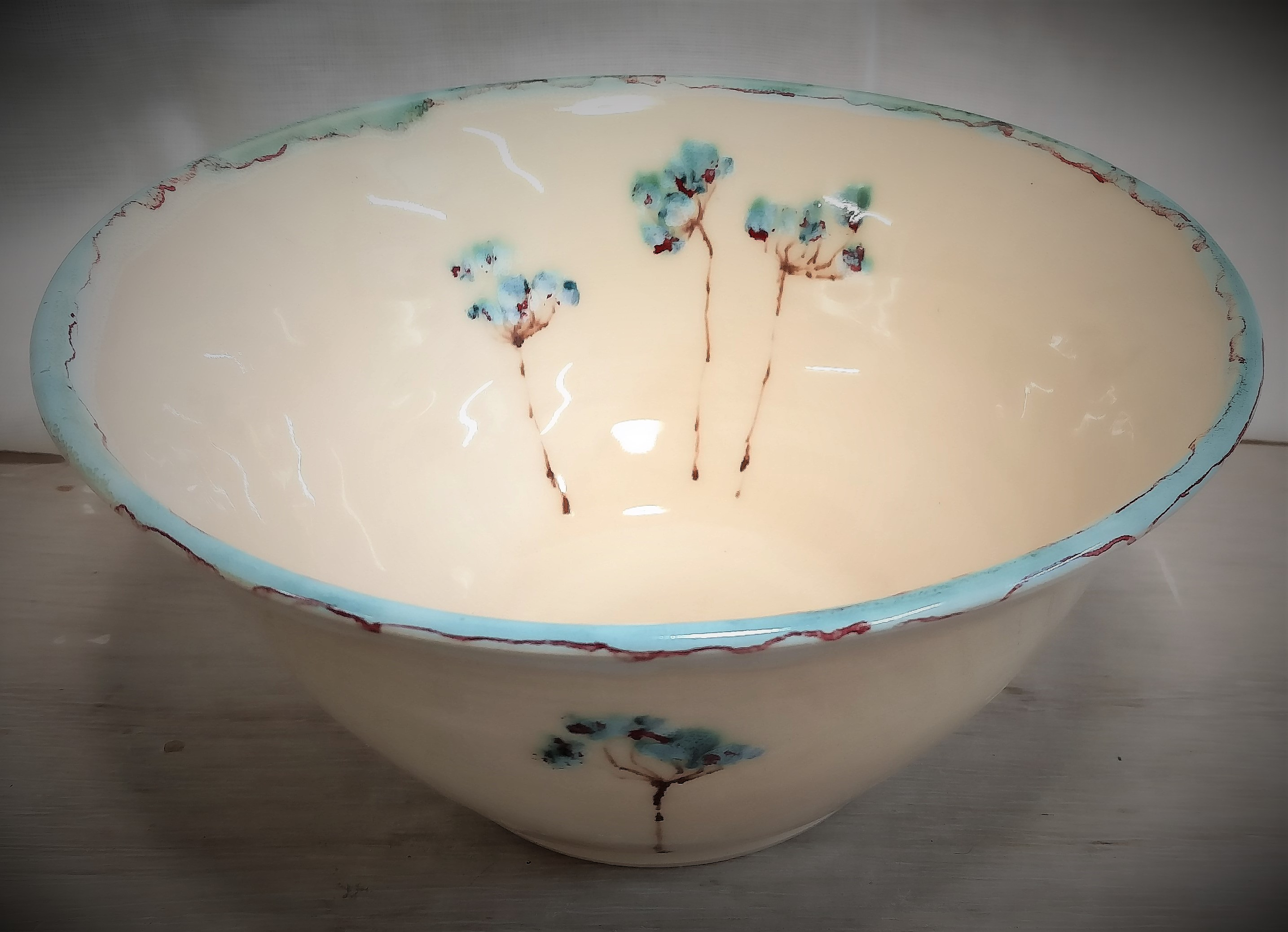 Painted Cow Parsley Bowl