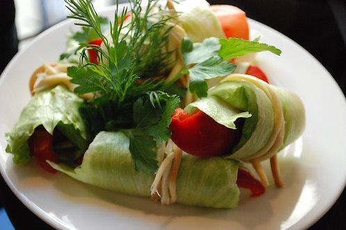 Вязанка из овощей с сыром «Чечил»