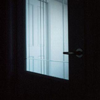 リビングドアにカットガラス
