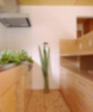 メープル材のキッチン