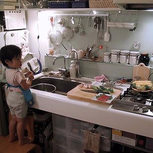 キッチン 壁面利用