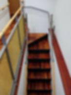 かりん材の階段