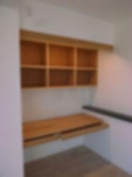 パソコンスペースと本棚