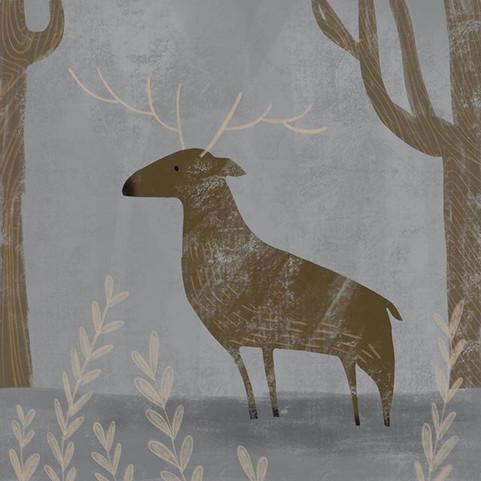 Deer in the woods #kidlitart #kidlit #ch