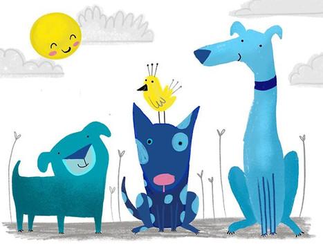Blue dogs enjoying the sunshine #kidlita