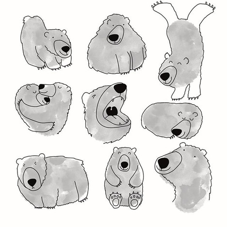 Bear ink blots