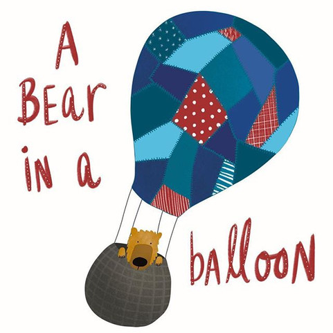 A bear in a balloon #kidlitart #kidlit #