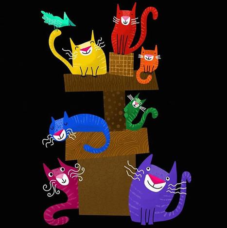 Colorful kitties