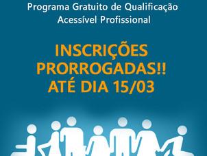2.000 Vagas para o Programa Gratuito de Qualificação Acessível Profissional