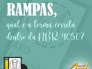 Rampas, qual a forma correta dentro da NBR 9050?