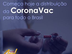 Começa hoje, 18 de Janeiro, a distribuição da CoronaVac para todo o Brasil
