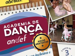 Matrículas Abertas para Academia de Dança da Andef - Aulas Gratuitas