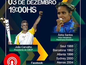 Live do CBCP, com a medalhista paralímpica Ádria Santos