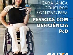 Caixa lança concurso exclusivo para pessoas com Deficiência (PcD)