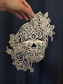 Skull Cut Paper