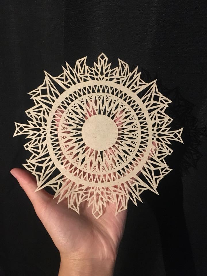 Geometric Mandala Cut Paper