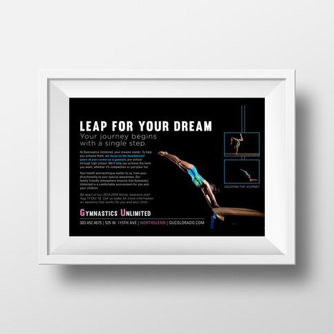 Gymnastic Unlimited Print Advertising