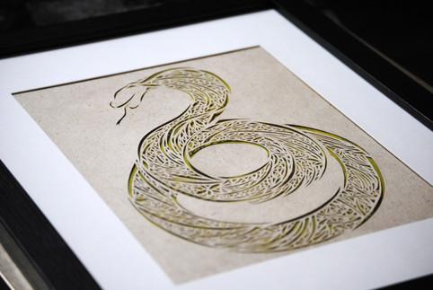 Snake Cut Paper