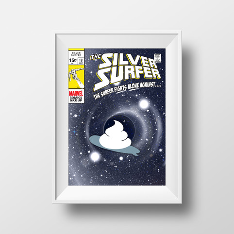 Silver Surfer Bathroom Poster