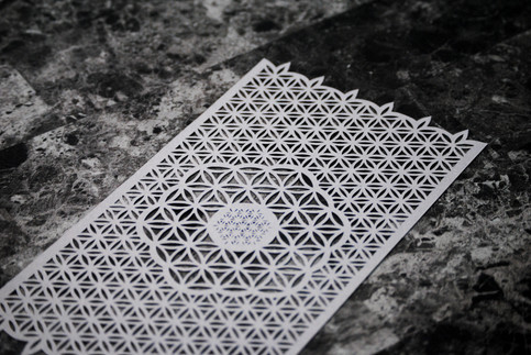 Flower of Life Custom Cut Paper