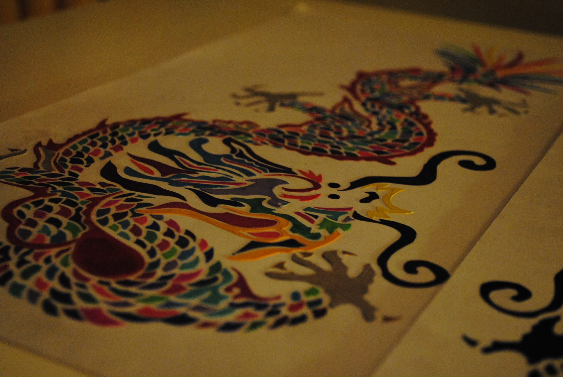 Dragon Cut Paper