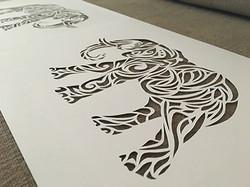 Elephant Cut Paper