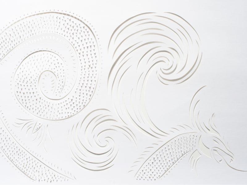Dragon Cut Paper