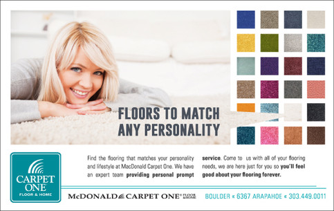 McDonald Carpet One Advertisement