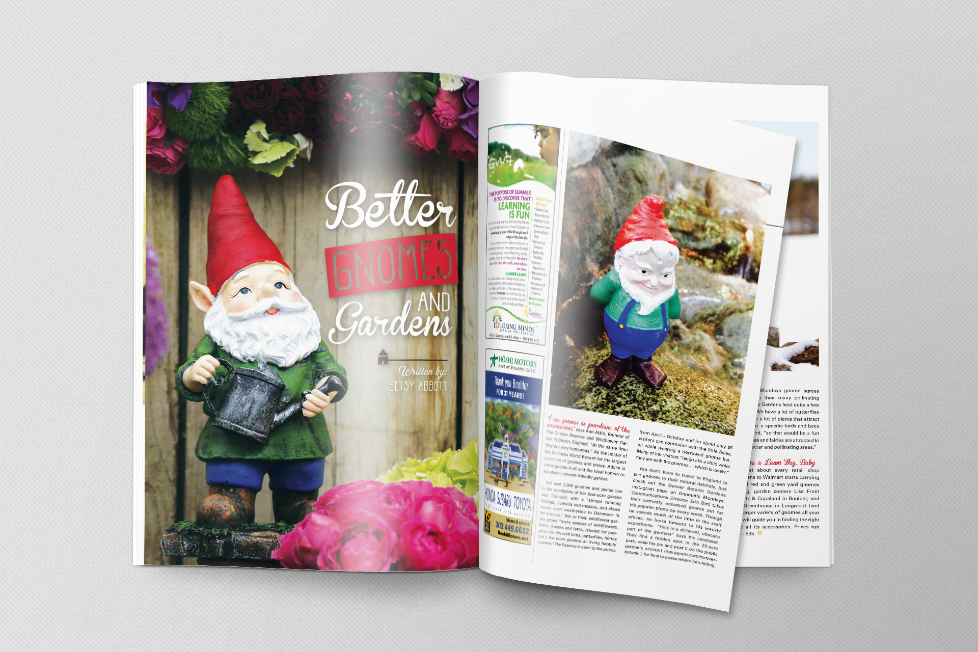 Garden Page Design & Layout