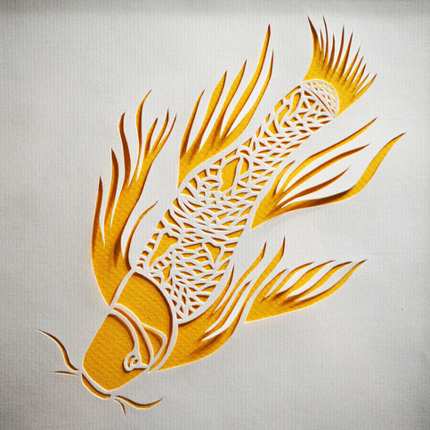 Koi Fish Cut Paper