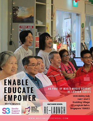 ENABLE, EDUCATE, EMPOWER with music